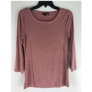 SALE 3/$10 ✨ pink heathered scoop neck blouse top